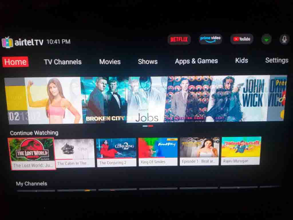 Airtel Internet TV gets a major service update