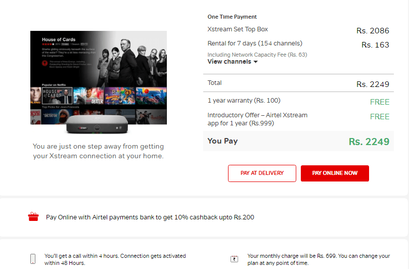Tata Sky Binge+ Effect: Airtel Xstream Box at Rs 1750 discount all over India for a limited period