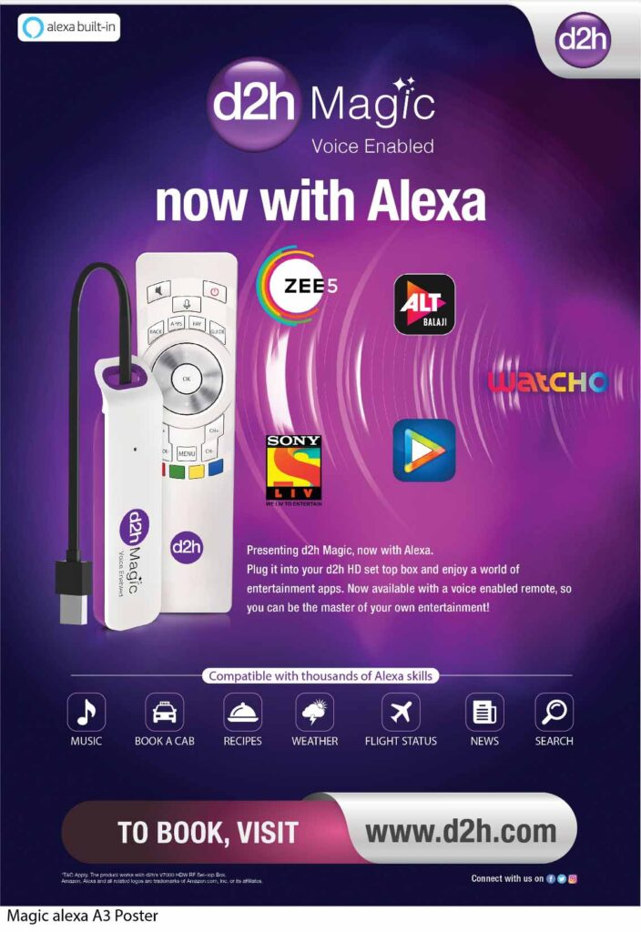 d2h launches d2h magic stick voice-enabled at Rs 1199
