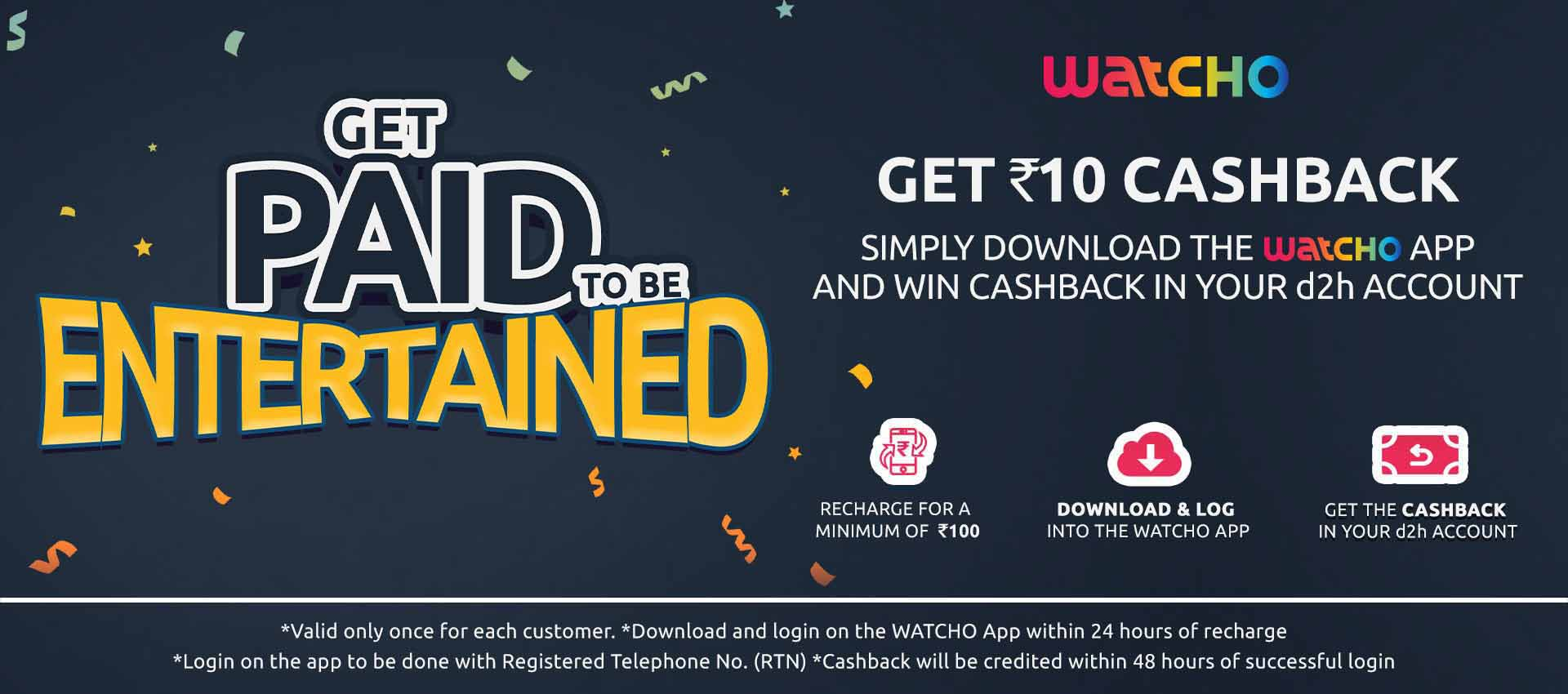Dish TV and d2h offering Rs 10 cashback on downloading Watcho app