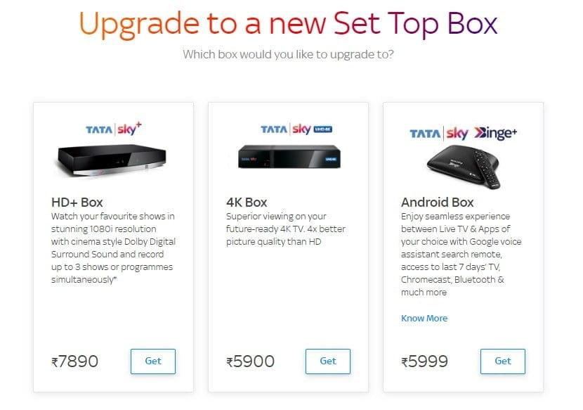Tata Sky Binge Plus Upgrade