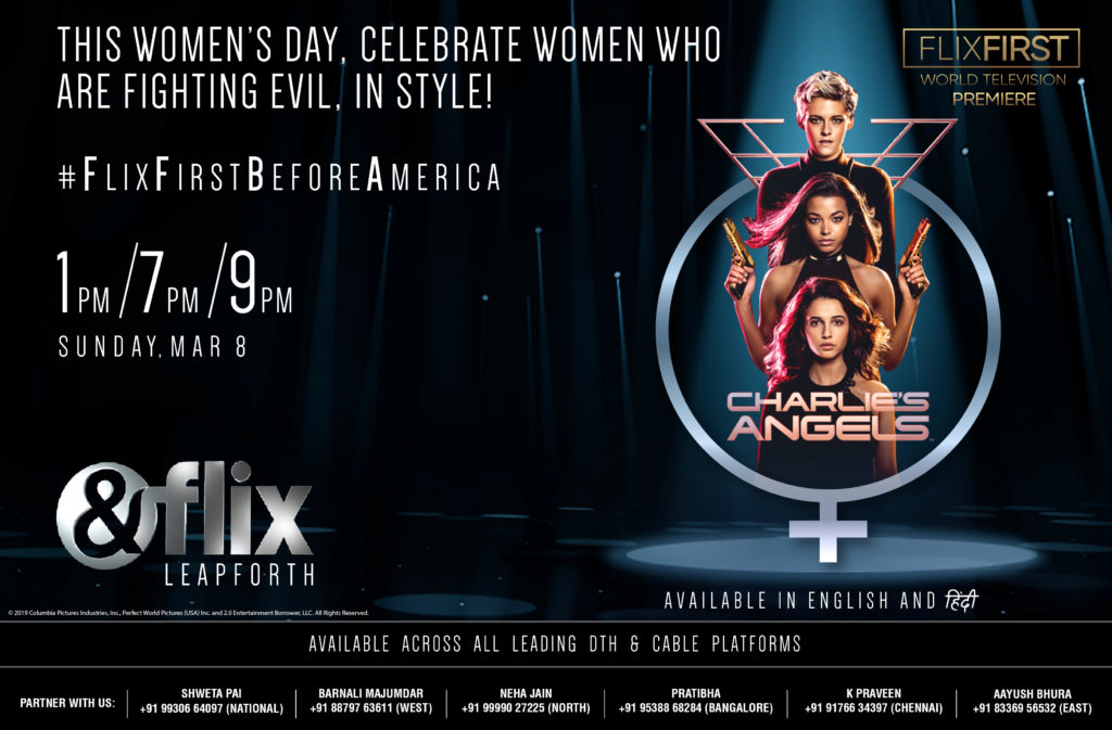 World Television Premiere of Charlie's Angels on &Flix this International Women's Day