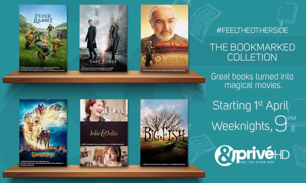 Witness your favourite stories come alive with 'The Bookmarked Collection' on &PrivéHD