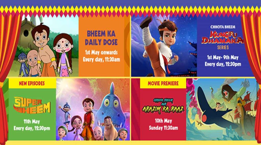 Pogo to air Sun Sunny Bheem throughout May