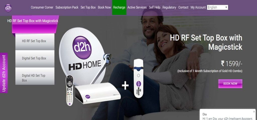 d2h gearing up to launch HD RF Set-Top Box with Magic Stick combo offer