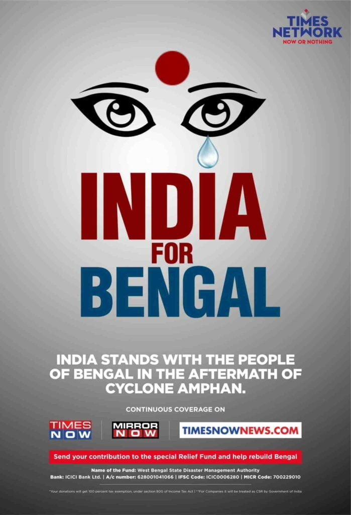 Times Network announces 'India For Bengal'