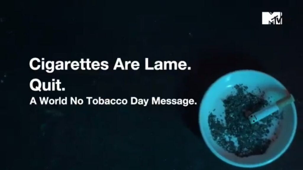 This World No Tobacco Day, MTV and MTV Beats Echo 'It's Time to Quit!'