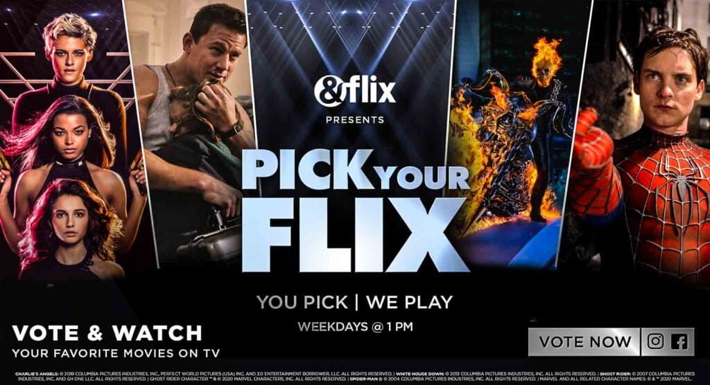 &flix gives its viewers the freedom to Pick Your Flix