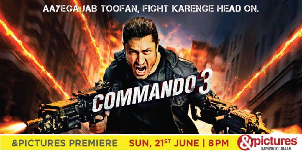 &pictures premieres Commando 3 this Sunday