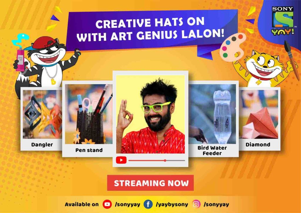 Sony YAY! ropes in art genius Lalon for creating digital workshops of art & craft to engage kids