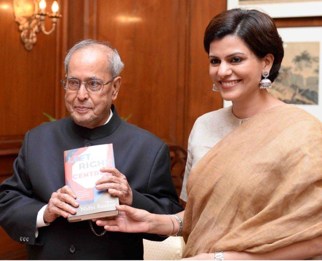 Nidhi Razdan with Pranab Mukherjee