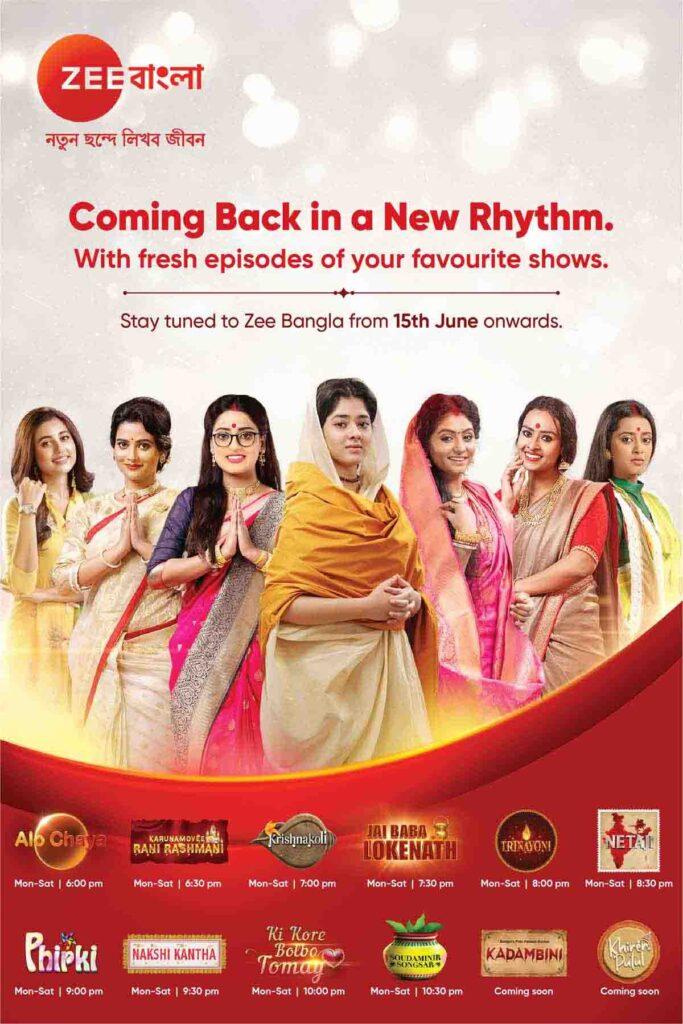 Zee Bangla back with fresh episodes 15th June onwards