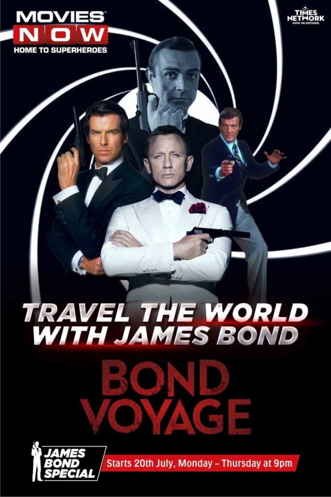 Movies Now curates an exclusive line-up of James Bond movies with Bond Voyage