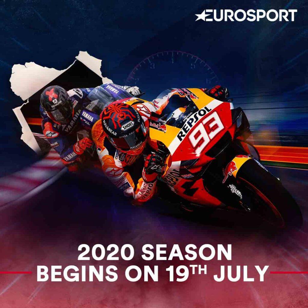 Eurosport to beam 2020 FIM MotoGP Grand Prix World Championship starting July 19