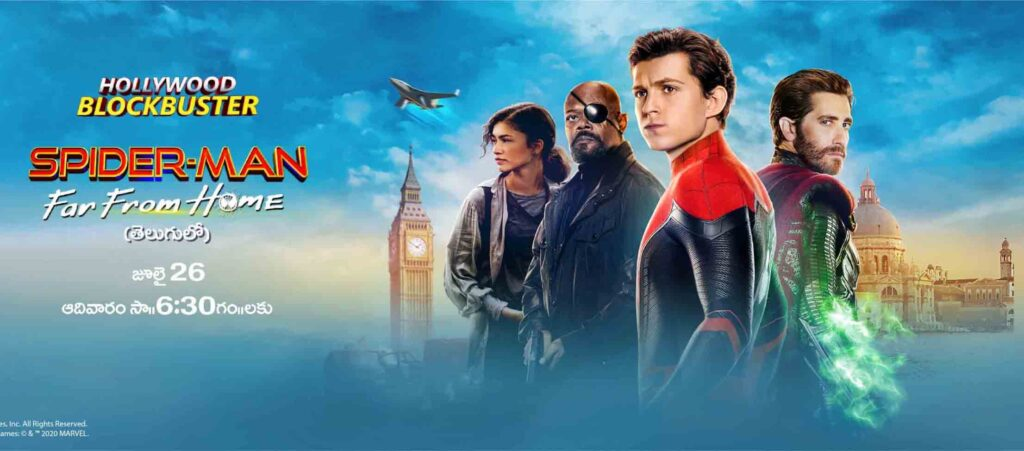 Zee Telugu to air Telugu World Television Premiere of 'Spiderman: Far From Home' on July 26