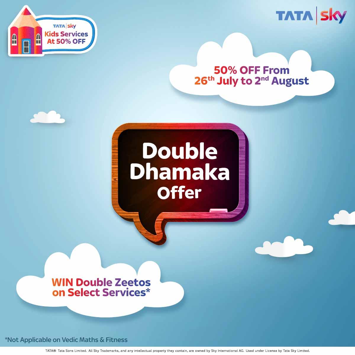 Tata Sky Double Dhamaka Offer