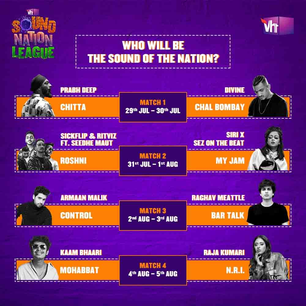 Vh1 India brings Vh1 Sound Nation League 2020; the battle of homegrown artists