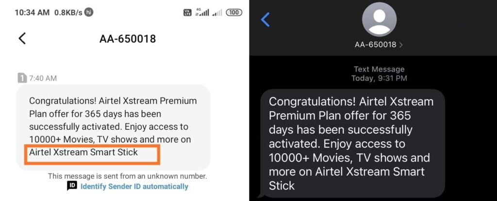 Airtel offers 1 year Airtel Xstream Premium Plan offer to existing DTH customers
