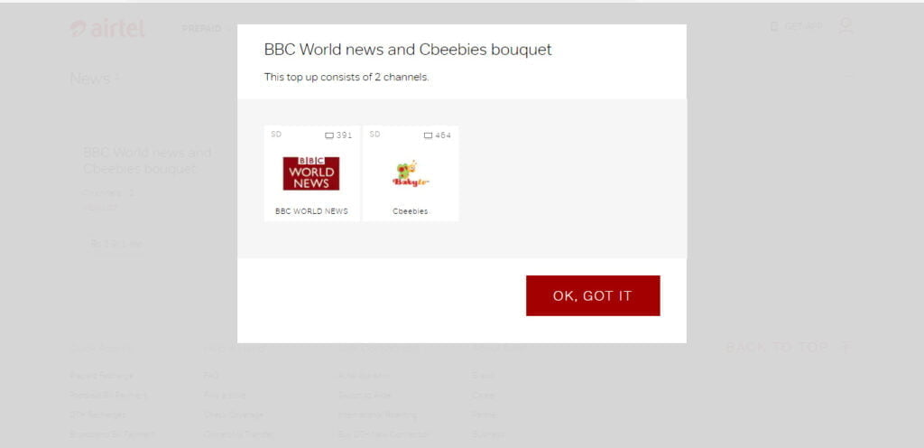 BBC India Bouquet debuts on Airtel Digital TV