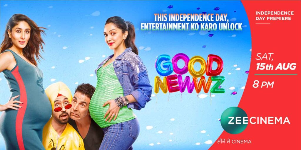 Zee Cinema set to air World Television Premiere of Good Newwz this Independence Day