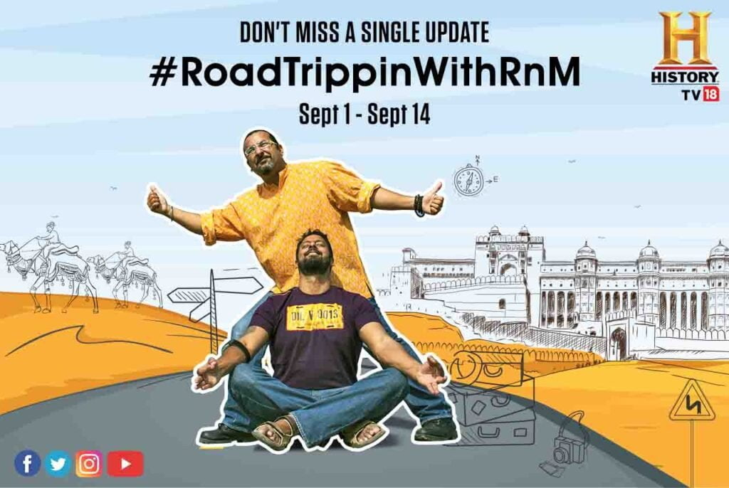 History TV18 launches a one-of-a-kind digital exclusive, '#RoadTrippinWithRnM' starting 1st September 2020