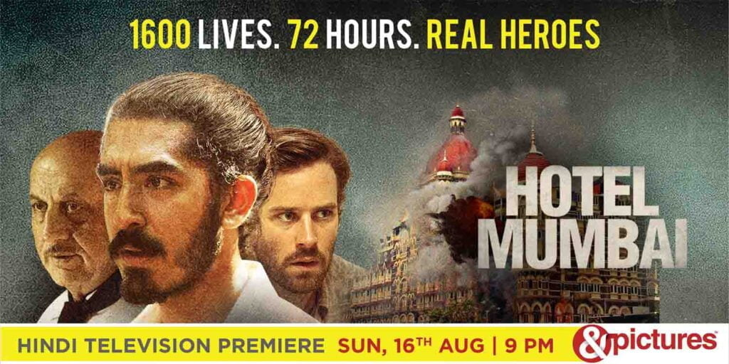 &pictures celebrates the courage of real heroes with the Hindi Television Premiere of Hotel Mumbai