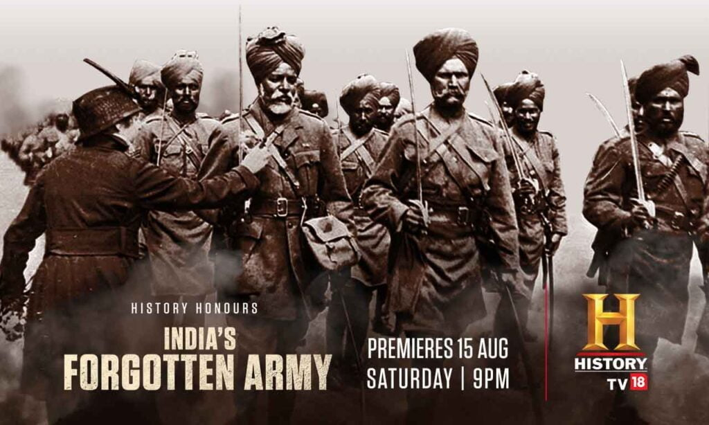 History TV18 to air 'India's Forgotten Army,' the untold story of India's role in World War I this Independence Day