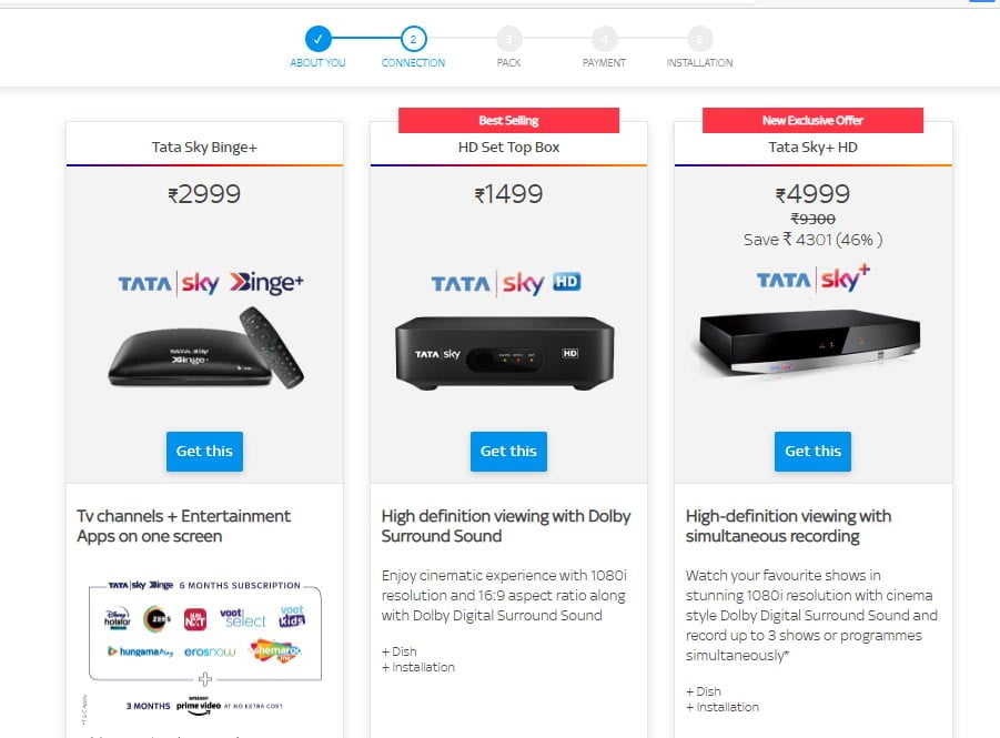 Tata Sky Binge+ new connection price slashed to Rs 2999/-