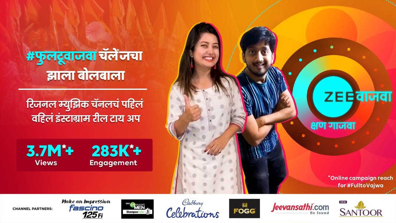 Zee Vajwa innovative launch campaign reaches over 10.5 million Marathi audience online