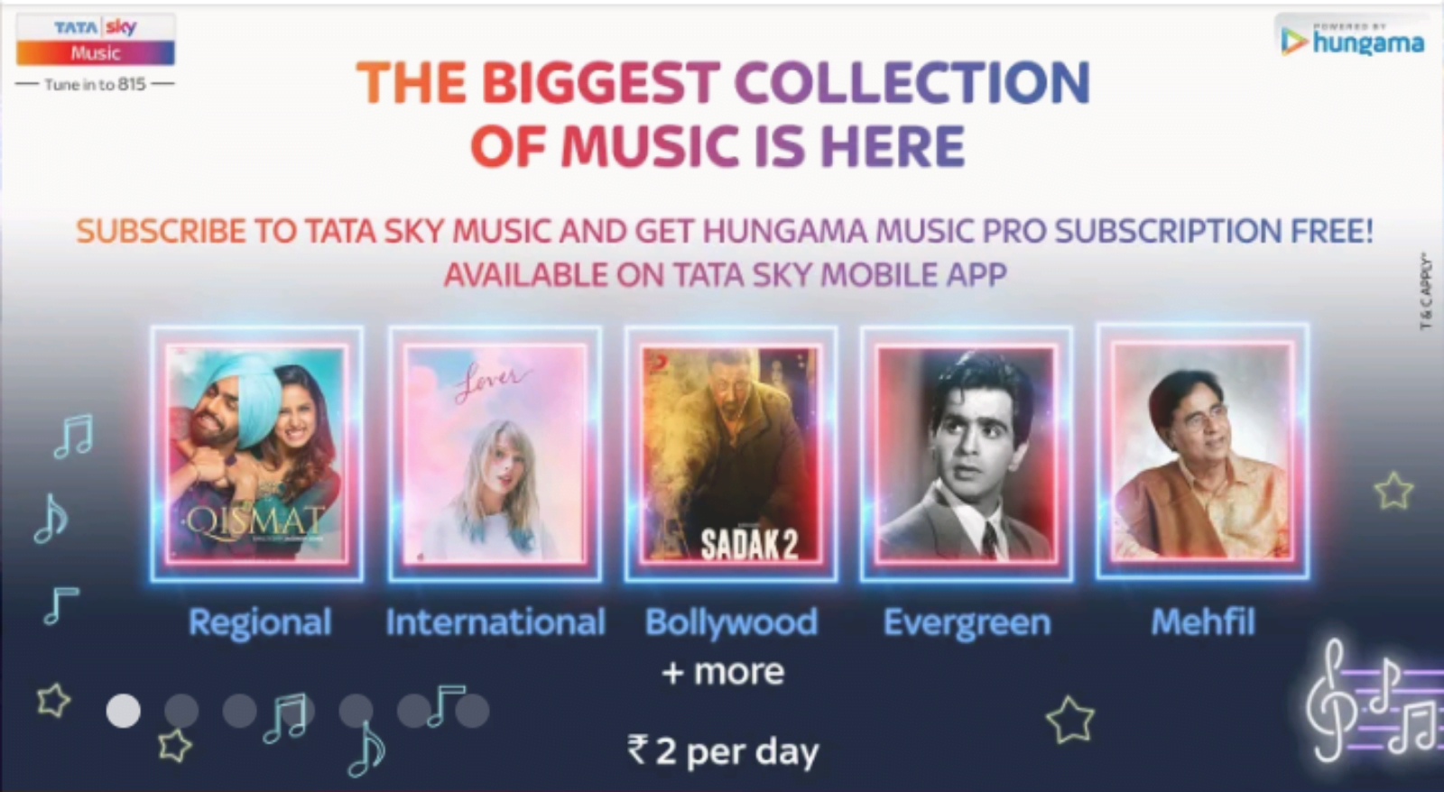 Tata Sky offering free Hungama Music Pro subscription to Music and Music+ subscribers
