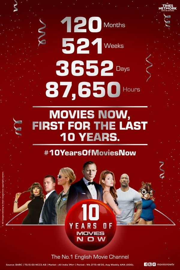 Movies NOW celebrates 10 years of operation