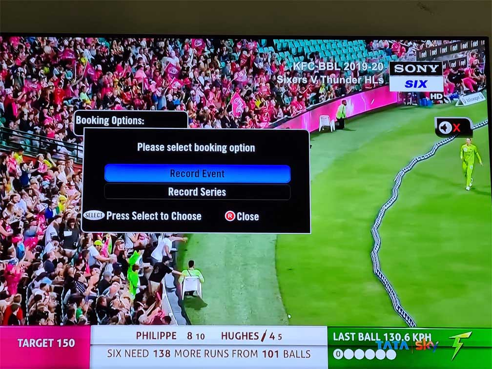 Tata Sky re-enables recording on Sony Sports channels after resolving issue with Sony