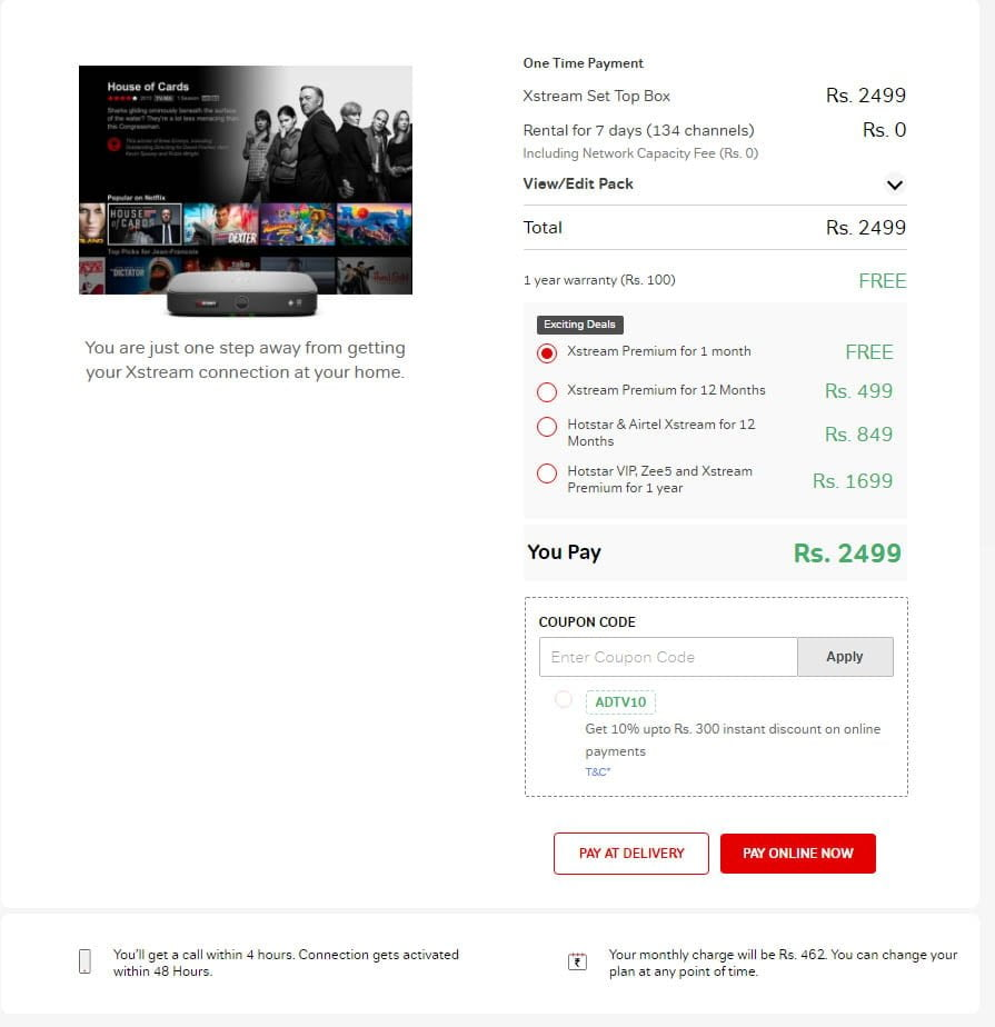 Airtel Digital TV now offering Disney+ Hotstar VIP and Airtel Xstream Premium subscription for 12 months at Rs 849