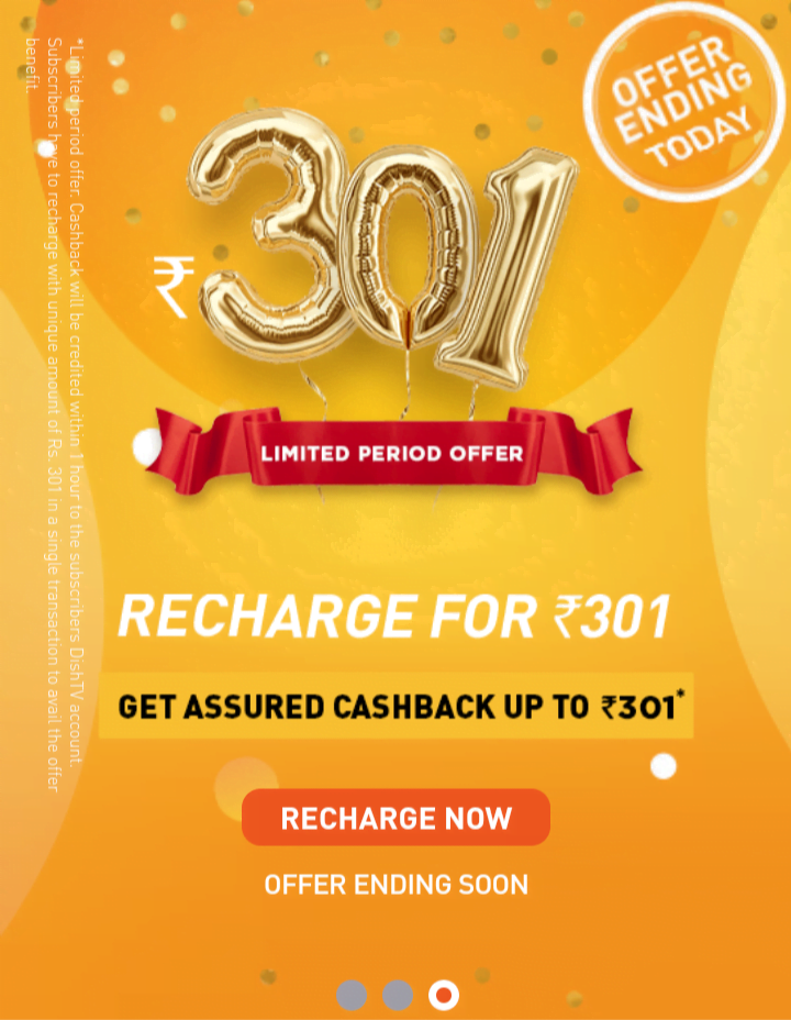 Dish TV's Recharge for Rs 301 offer expires today
