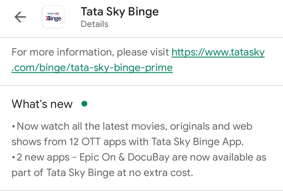 Tata Sky Binge In10 Media